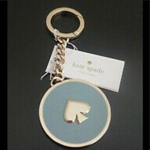 Kate Spade blue enamel key fob/chain
